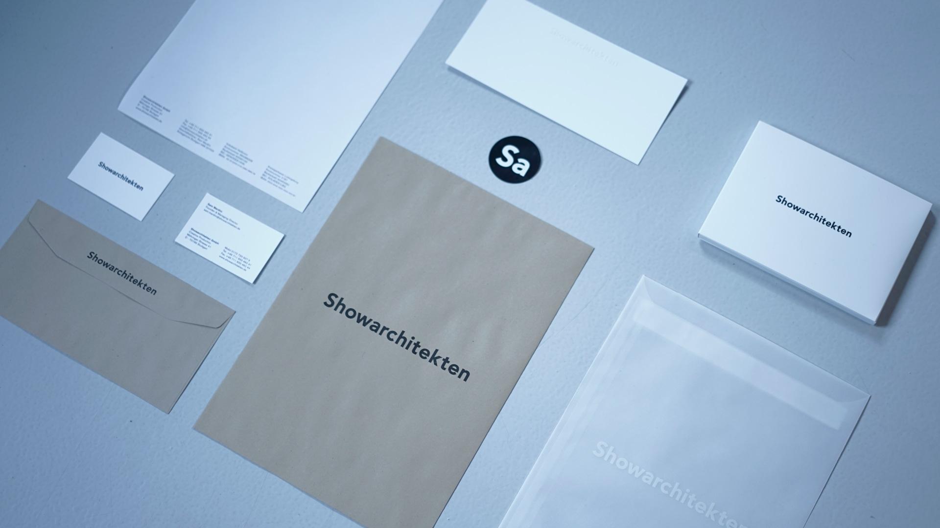 Neue Corporate Identity der Showarchitekten / Showarchitekten, Creative Production, Stuttgart